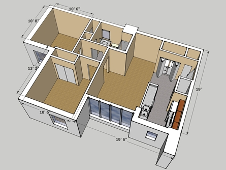 Calculation Living Space Single House